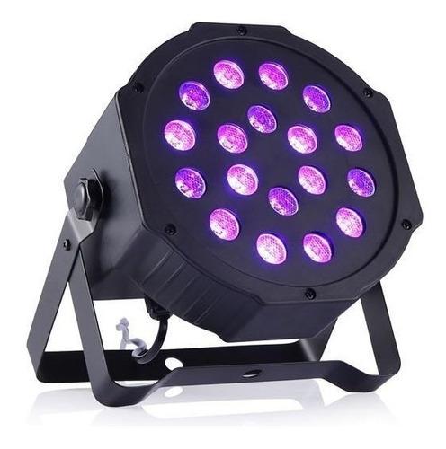 tacho led 18w luz uv negra potente dmx discotec audioritmico