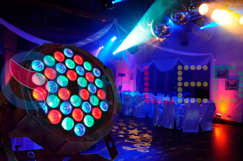tacho led discoteca rgb audioritmico dmx 36w - quitoled