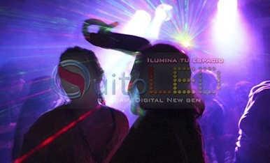 tacho led rgb 10 focos 120w audioritmico dmx- quitoled