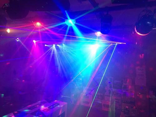 tacho  luces led audioritmico rgb 18w dmx dj eventos disco