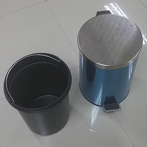 tacho, recipiente basura, acero inoxidable, 20 litros