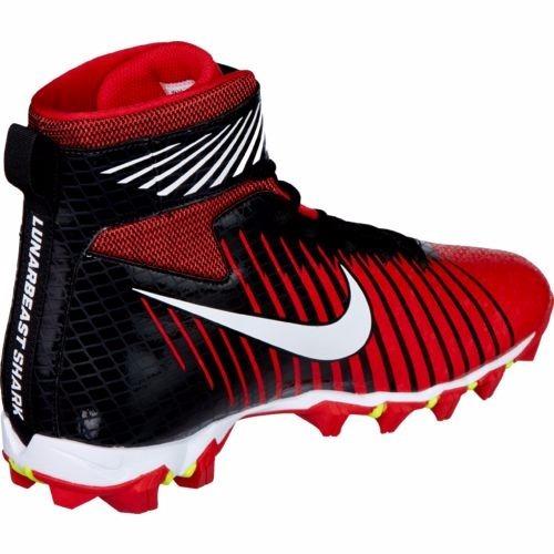 finest selection 80a20 b2021 Nike Football School White Black Black Force Lunarbeast Shark Bg Boys Grade  Shoes tachones nike lunarbeast strike shark football rojo negro ...