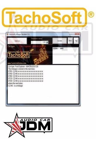 tachosoft 23.1 calculador odometro grupo vag audi, vw, seat