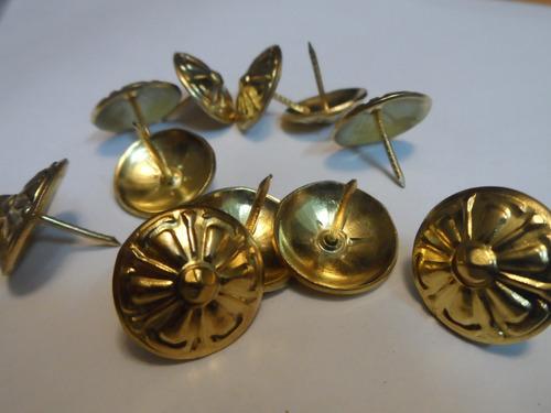 tachuelas decorativas doradas por paquetes