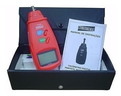 tacômetro contato digital portátil medidor rpm instrutherm