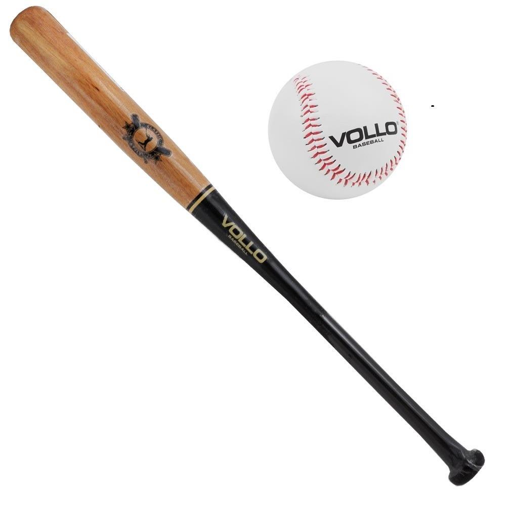 cf4170f39 taco beisebol madeira vollo 75cm + bola baseball pro. Carregando zoom.