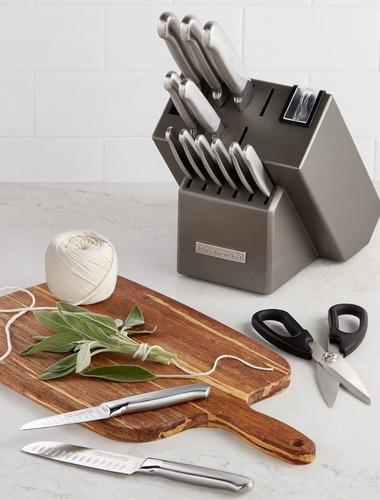 taco de cuchillos 16 piezas kitchenaid acero inox