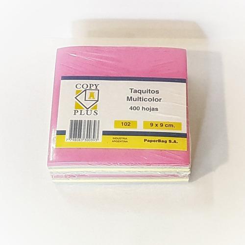 taco de papel 9x9 cm color x400hjs dv distribuidora libreria