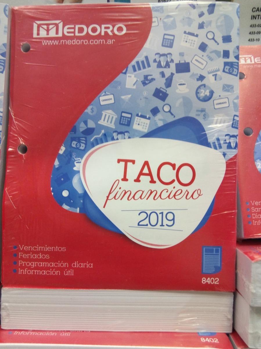 Calendario Financiero 2019.Taco Financiero Calendario Medoro 2019 Microcentro