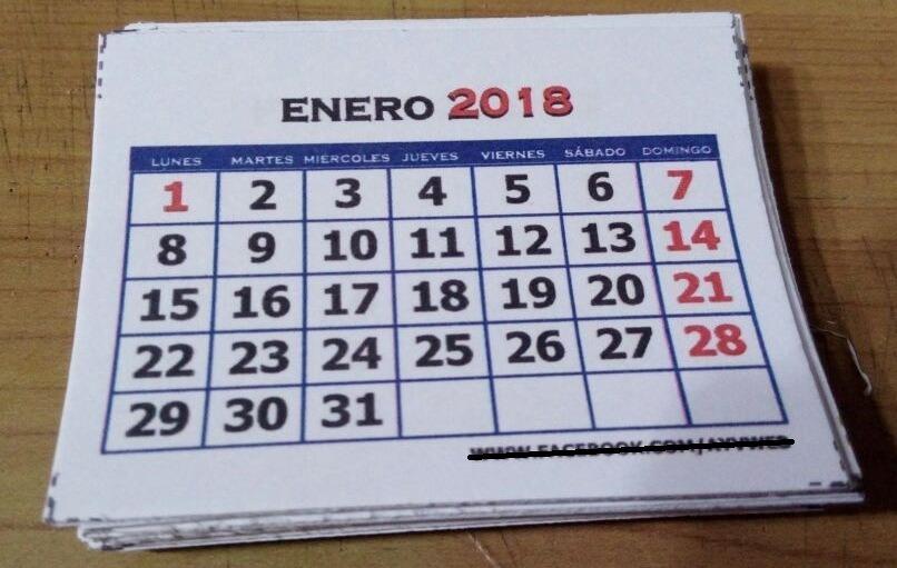 Mini Calendario.Taco Mini Calendario 2019 Personalizados
