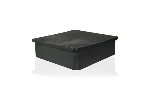 taco regaton plastico de 3/4  cuadrado interno