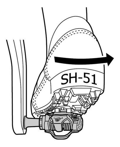 taco shimano mtb pedal bike bicicleta original float sh51 ideal para treinos pesados promoção por tempo limitado sm sh51
