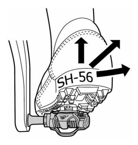 taco / taquinho shimano pedal mtb sh56 - multidirecional