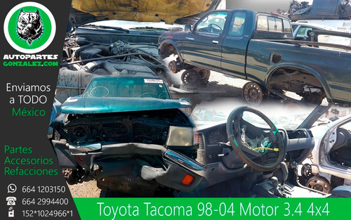 tacoma 98-04 3.4 autopartes repuestos refacciones yonke
