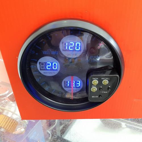 tacometro 4 en 1 shift light 5 pulgadas medidor digital rpm