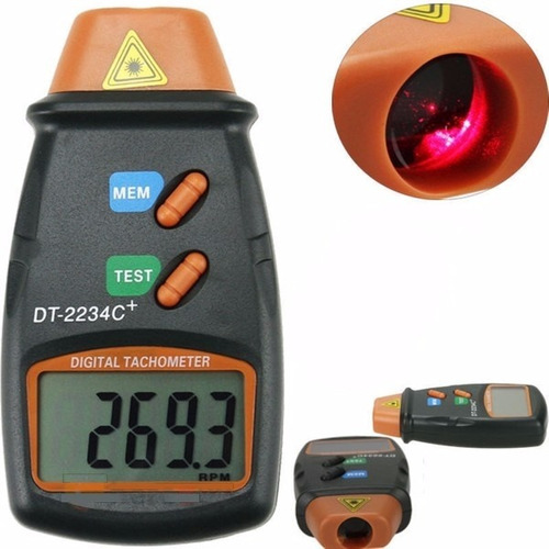 tacometro digital laser pantalla lcd iluminada rpm g-e139