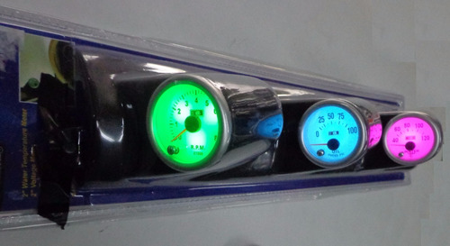 tacometro medidores reboluciones aceite agua  sobreruedas