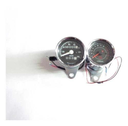 tacómetro velocímetro café racer