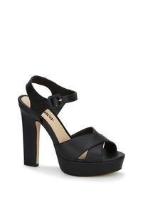 Tiras Tacón Plataforma Zapatillas Negro Sandalias Mujer Moda SzGMqUVp