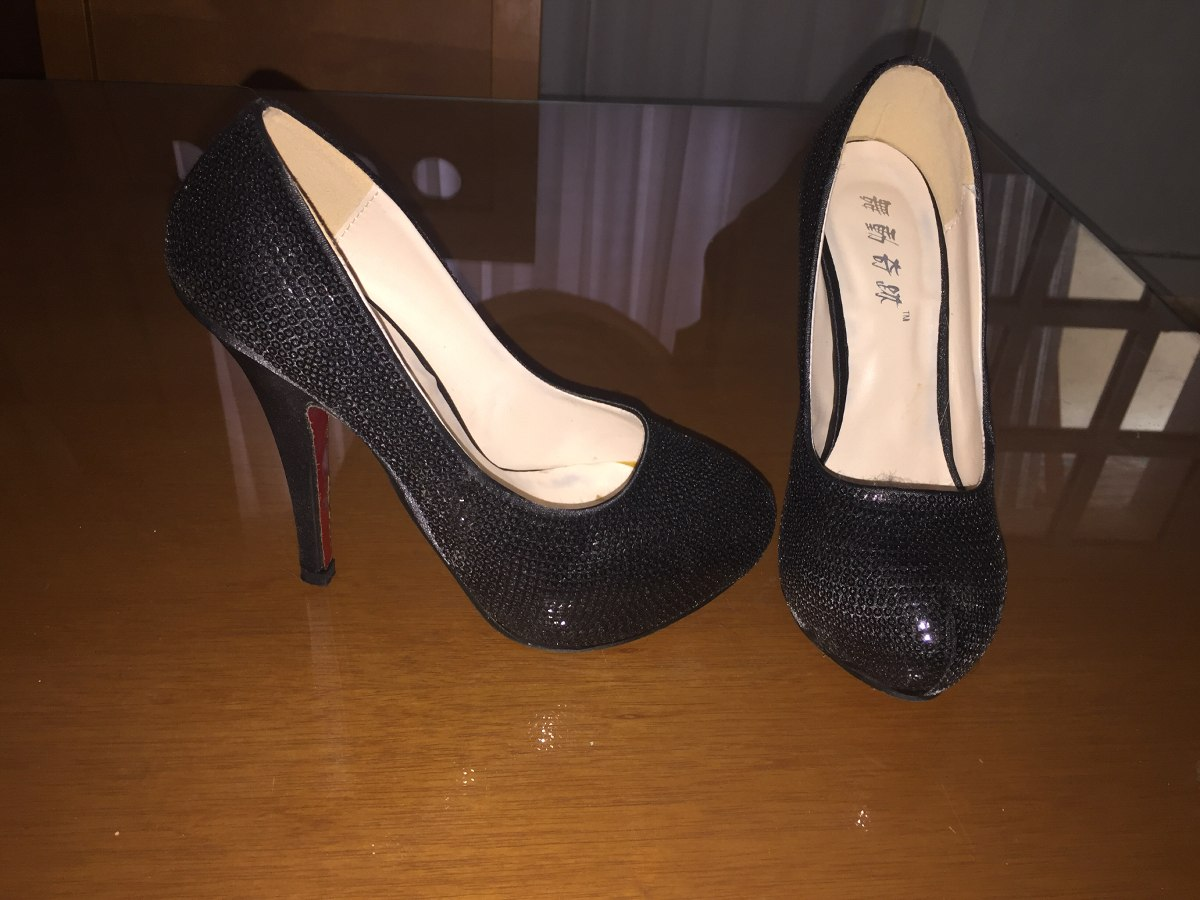 Vestir Color Tacones Usados Negros Bs0 12 De Altos Para Dama Nm8n0wv
