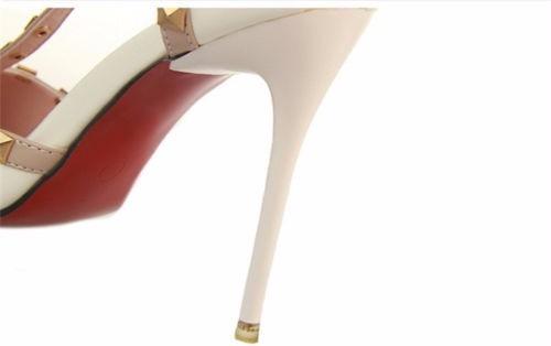 Tacones Blancos Con Taches Fashion Sexy Stiletto Pointed pwRPabI6NJ ... 3069948e8e71
