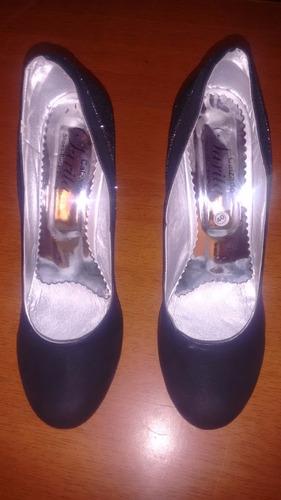 tacones botines para dama mujer talla 40 con brillantes