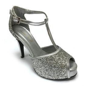 Venezuela Zapatos Libre Plateado En Tacones Mercado Flores myvN8wnO0