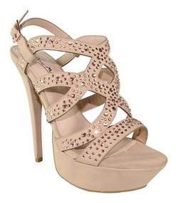 gran venta 1eb74 cb79f Tacones Super Altos Dama Anne Michelle, Color Nude