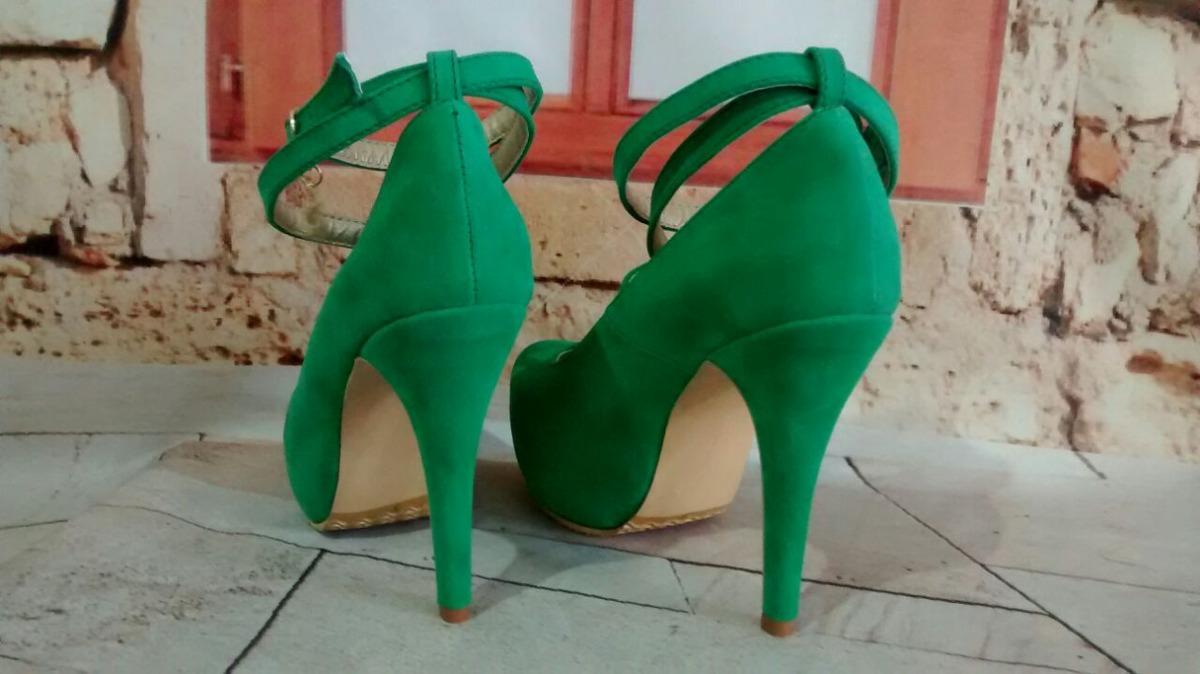bajo costo 45128 99a8a Tacones Verde Esmeralda