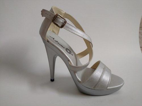 tacones zapatillas de noche oro dorados y plata elegantes