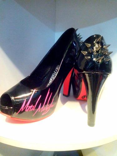 tacones zapatos para mujer metal mulisha.