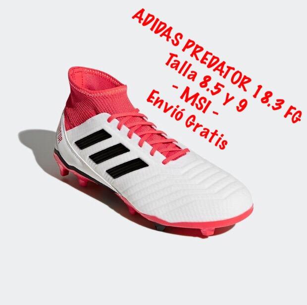 f9bb14e122070 ... tacos adidas predator blanco rojo (8.5 mex) c caja