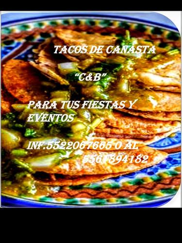 tacos de canasta  c&b