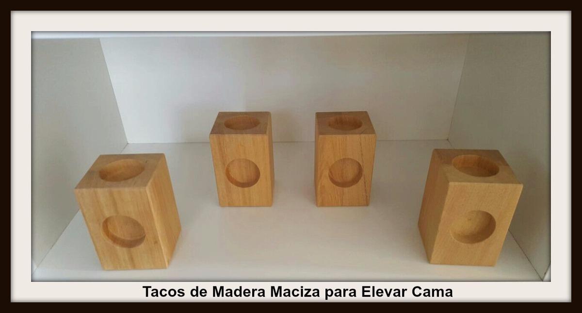 Tacos De Madera Para Elevar Cama 145420 En Mercado Libre