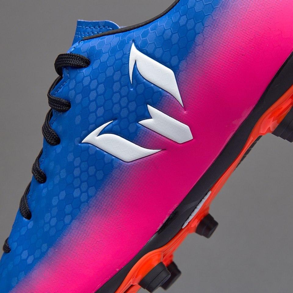 bace031c37 ... tacos futbol adidas messi 16.4 fxg adulto azul rosa pasto. cargando zoom .