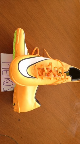 tacos futbol naranjas multitaco nike mercurial 8.5 original