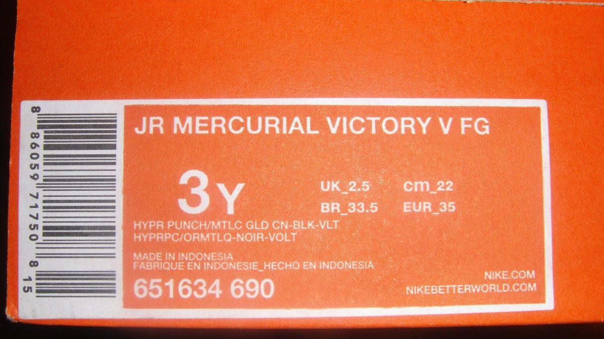 cea087457e82d Tacos Futbol Nike Mercurial Victory  de Niño  Ronaldo -   579.00 en ...