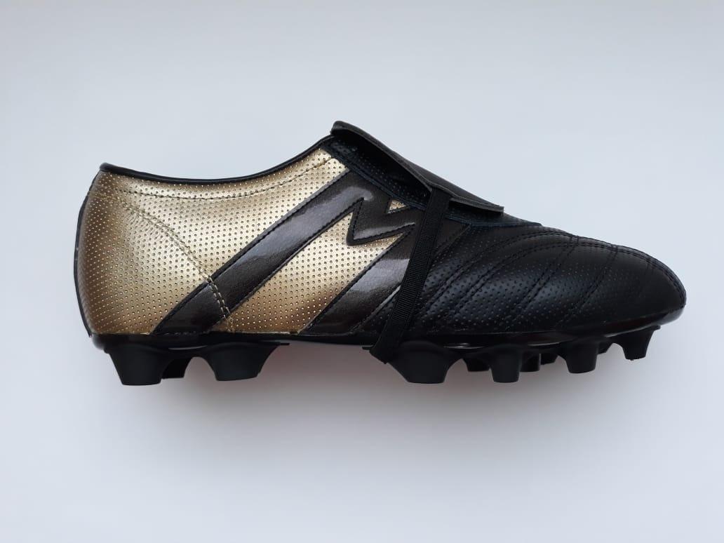 5cd855492 Tacos Fútbol Soccer Manríquez Mithos Negro Oro 100% Piel -   899.00 ...