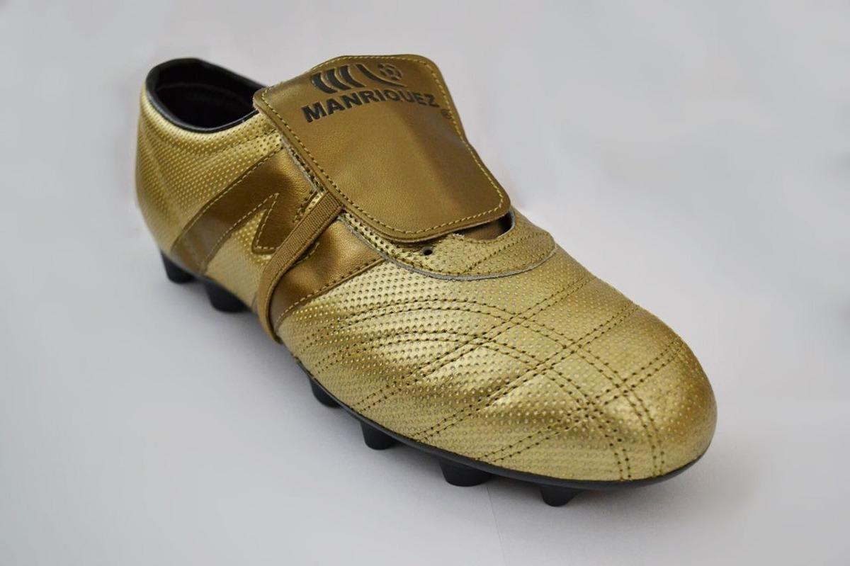 be3b4a4e45dba tacos fútbol soccer manríquez sx plus total oro 100% piel. Cargando zoom.