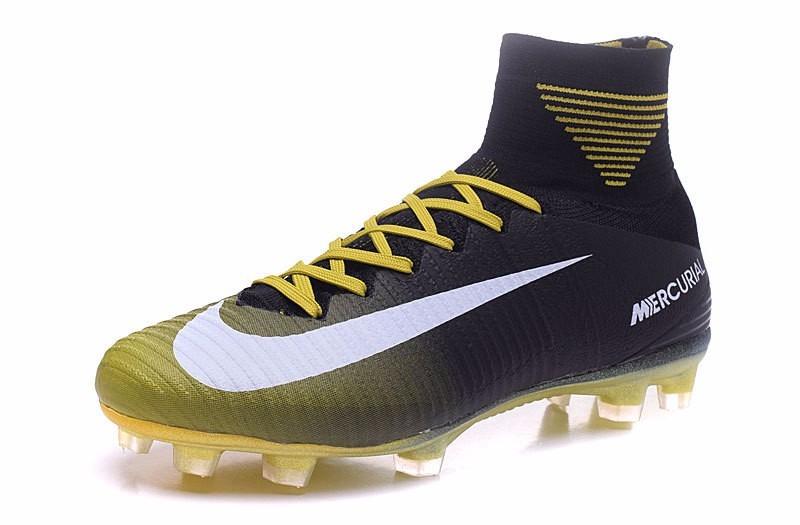 Tacos Nike Mercurial Superfly V Fg - Black   Yellow -   2 b365f1bad8f16