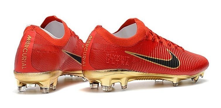 new photos 07dfe 3b18f Tacos Nike Mercurial Vapor Flyknit Ultra Red Gold