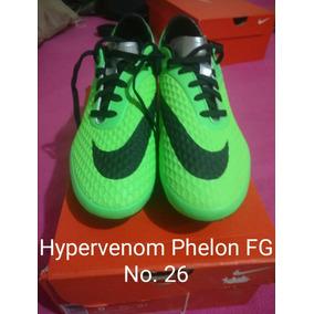 07c097fd40d92 Zapatos De Futbol Nike Hypervenom Verdes en Mercado Libre México