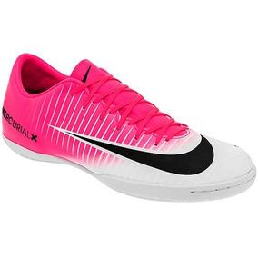 55d9de2127e05 Tennis De Futbol Rapido Nike Rosas Con Blanco - Tacos y Tenis de ...