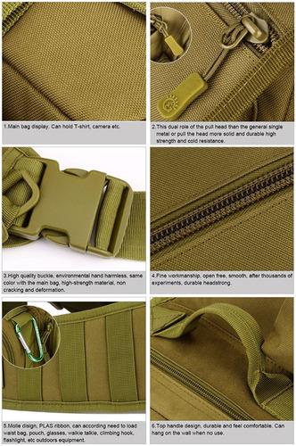 táctica militar honda pecho pack bolso mochila