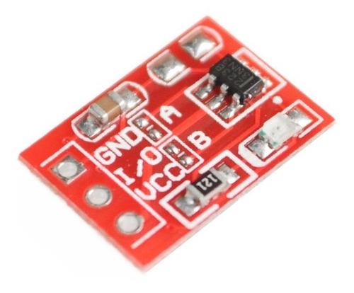 tactil capacitivo modulo boton sensor  touch rojo ttp223