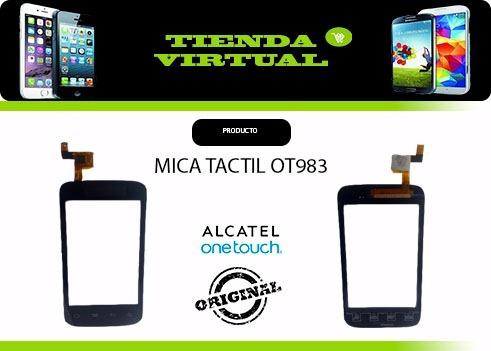 tactil touch mica digitizer alcatel ot983  983a