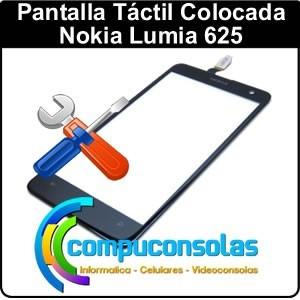 táctil vidrio nokia lumia 625 colocada compuconsolas