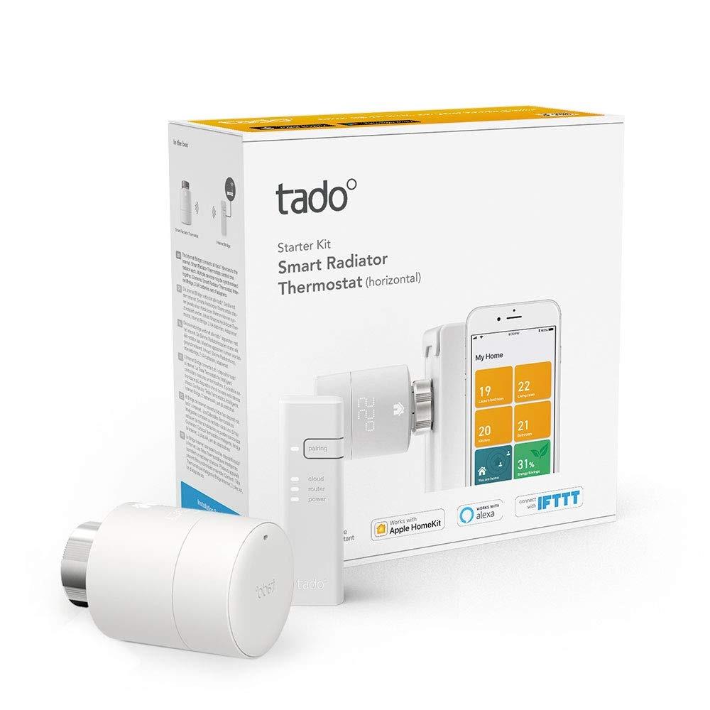 Pack Duo Control de Calefacci/ón Inteligente Accesorio para Control de Habitaciones M/últiples Cabezal Termost/ático Inteligente Tado/°
