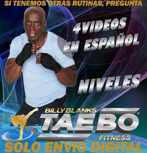 tae bo 4 videos en español zumba fitness adelgazar en casa