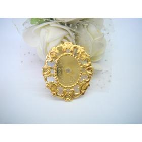 Tag De Metal Aluminio Dourada Oval 2,2cmx2,5cm 100 Peças